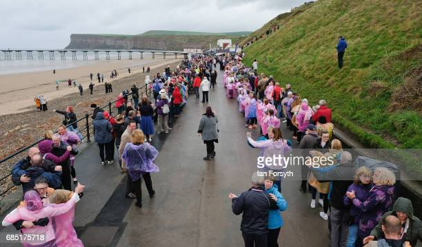 Hundreds of couples take part in an attempt to try and break the World Record for the largest number of couples waltzing on May 19 2017 in...