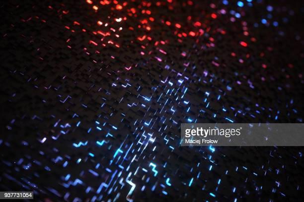 Hundreds of cubes representing quantum computing