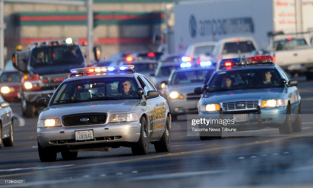 Hundreds of emergency vehicles snake through Lakewood