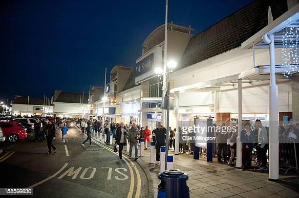 Hundreds of fans line up outside to meet James Arthur, winner of X Factor 2012, meets fans and signs copies of his book 'James Arthur: My Story' at...