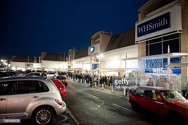 Hundreds of fans line up to meet James Arthur, winner of X Factor 2012, meeting fans and signs copies of his book 'James Arthur: My Story' at Fosse...