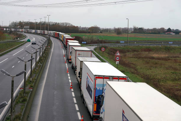FRA: Trucks Line Up To Access Eurotunnel Freight In Calais