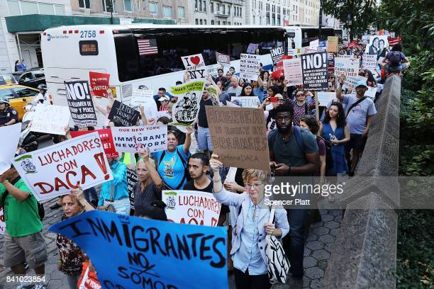 Hundreds of immigration advocates and supporters attend a rally and march to Trump Tower in support of the Deferred Action for Childhood Arrivals...