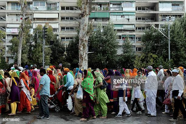 Hundreds of Indian migrants living in Athens participate in the celebration of Baisakhi Baisakhi marks the Sikhs New Year day and the official...