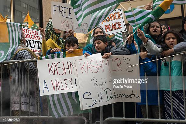 Hundreds of Kashmiri immigrants and supporters from across the U.S. And Canada gathered in New York City for a rally at the Indian Permanent Mission...
