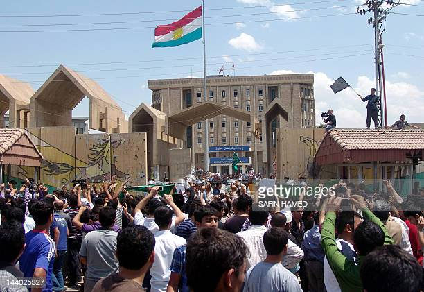 Hundreds of Kurdish demonstrators take part in a protest denouncing a Kurdish magazine that published last week an article they say offended Islam as...