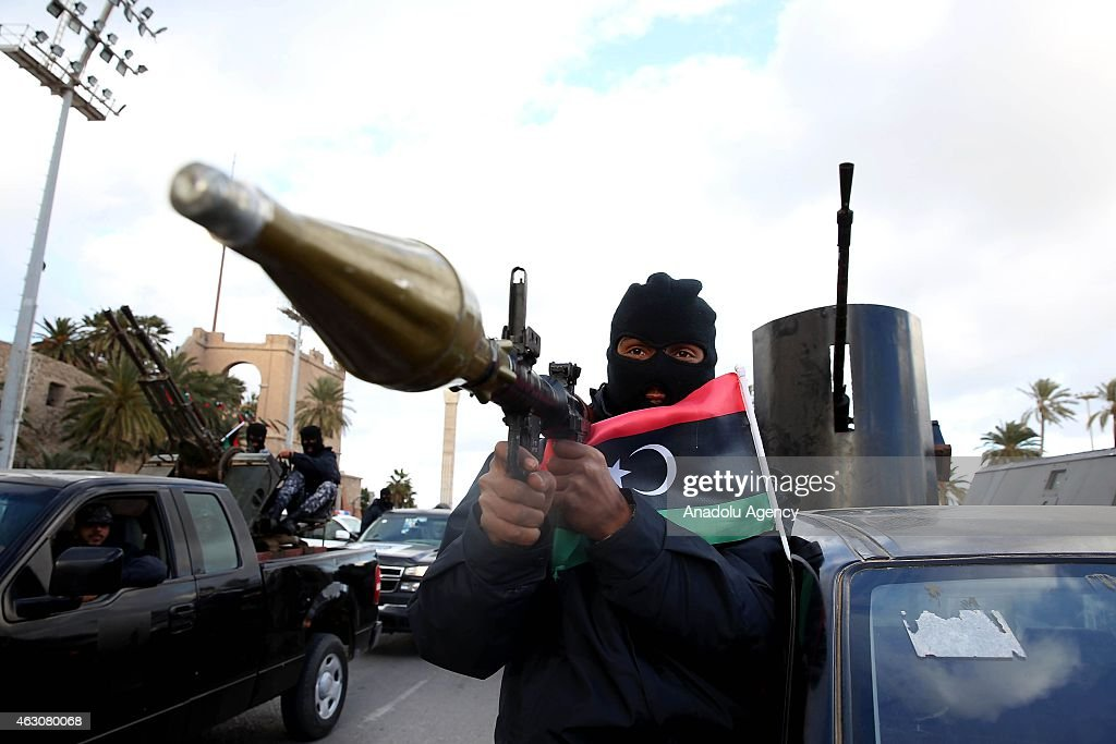 Libyan security forces go their duty stations within new security plan : News Photo