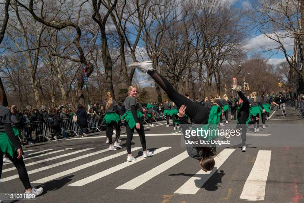 Hundreds of marchers participate in the 2019 annual St Patrick's Day parade on March 16 2019 in New York City The New York City St Patrick's Day...
