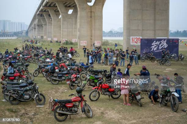 Hundreds of Minsk enthusiasts mostly from northern Vietnam gather for a Minks offroad tournament on November 5 2017 in Hanoi Vietnam A new generation...