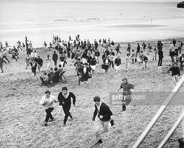 Hundreds of mods and rockers and other teenagers invaded the town of Hastings England causing general disruptions and calling for special...