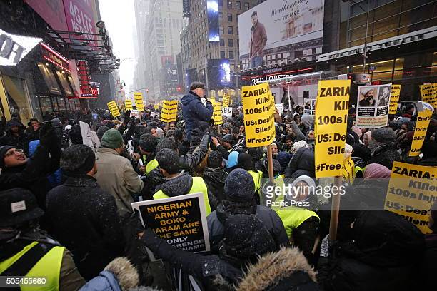 Hundreds of Muslims gathered in Times Square to protest against the Saudi government's execution of dissident sheikh Nimr Baqir alNimr and demand the...