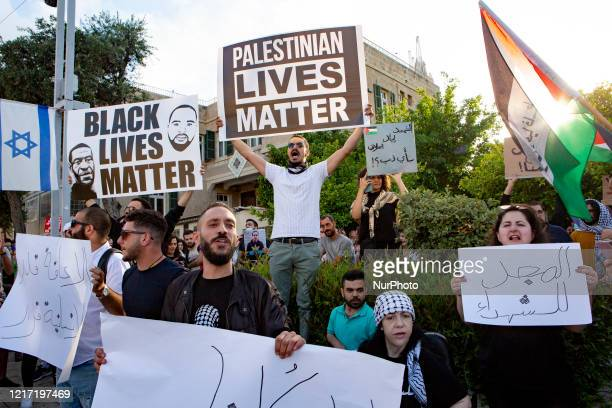 Hundreds of Palestinian citizens of Israel protested in the city of Haifa, Israel, on Tuesday, 2 June, 2020 against the Israeli police killing of an...