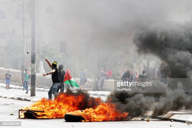 Hundreds of Palestinians participate in Nakba Day on 15 May 2017 and support the Palestinian prisoners in jail israel Clashes broke out between the...