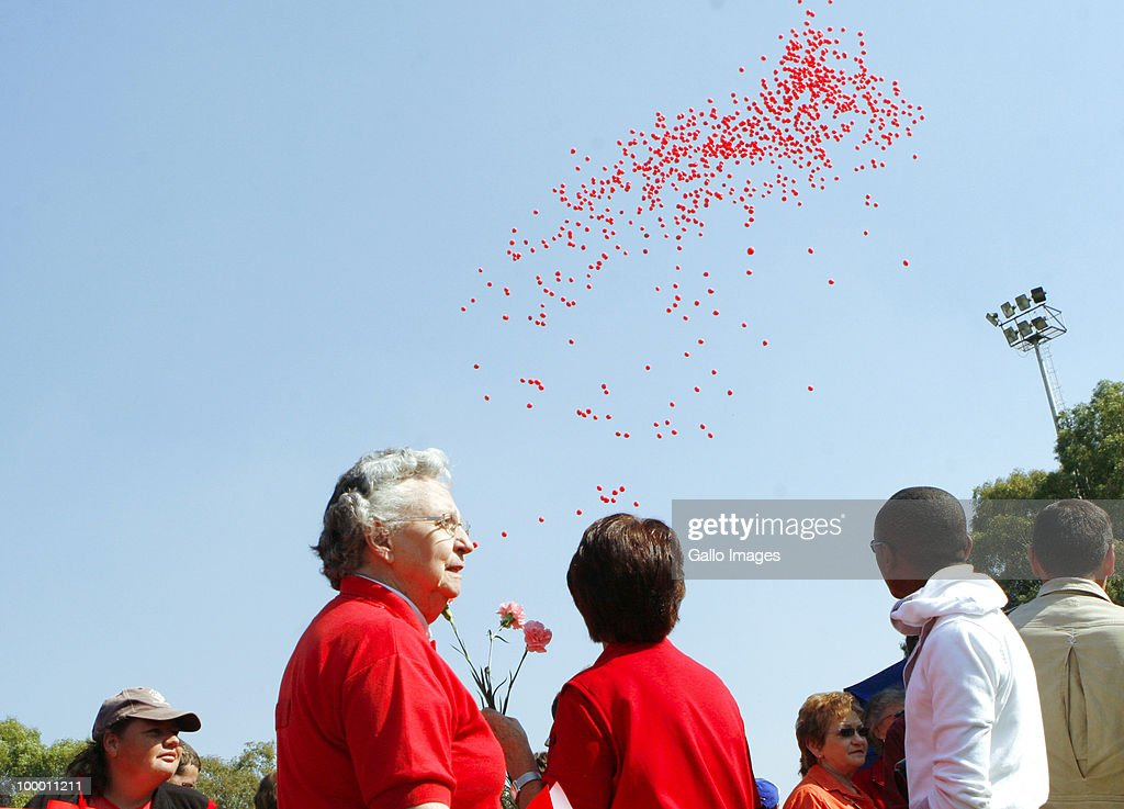Hundreds of people, all dressed in red, gather at the Harlequins-rugby club in Pretoria, South Africa on 19 May 2010 to join Solidarity�s National Day against Crime. Altogether 352 memorandums against crime were handed to police throughout South Africa, hoping that will make the country safe from crime, murder and rape. During this day remembrance was given to all of those who have been victims of crime and who have lost a loved one.