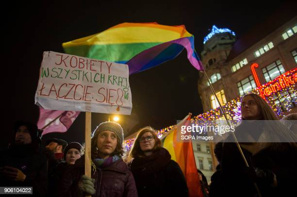 Hundreds of people attend a protest against proposals to tightening of abortion laws at the Main Square in Wroclaw Women associations called a...