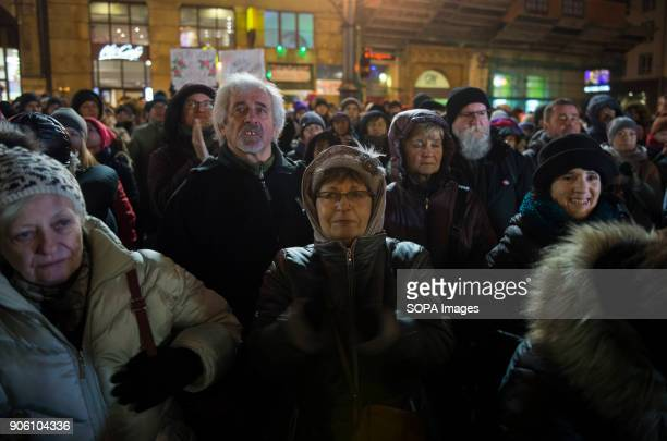 Hundreds of people attend a protest against the proposals to tightening of abortion laws at the Main Square in Wroclaw Women associations called a...
