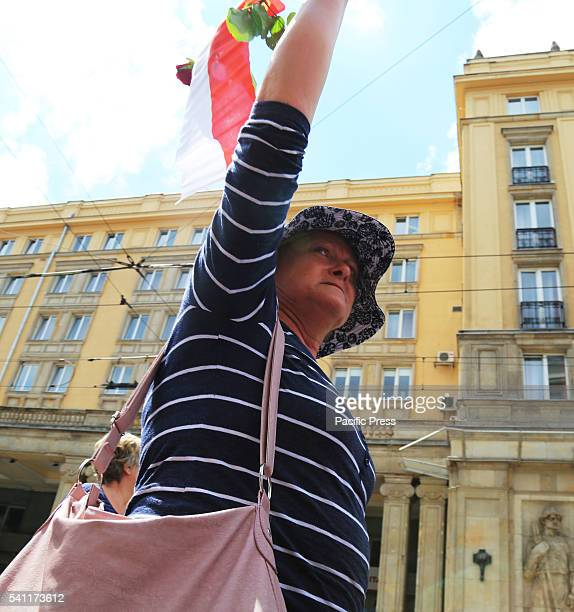 Hundreds of people came to the 'March of Dignity' a protest in defense of women's rights in Warsaw Poland The protest was organized under the slogan...