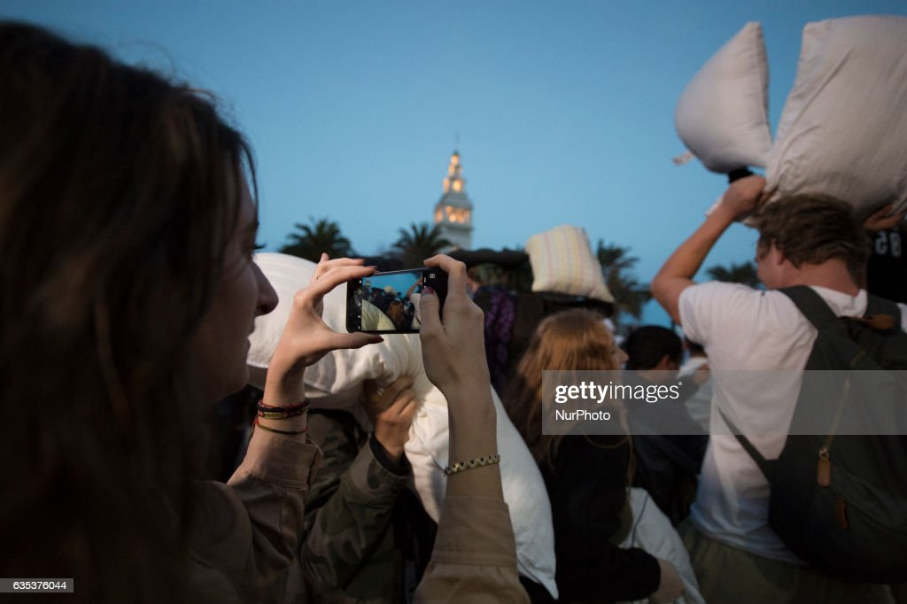 annual valentine's day pillow fight in san francisco photos and, Ideas