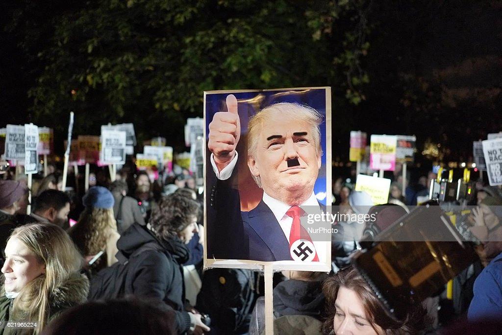 Anti-Trump rally in London : News Photo
