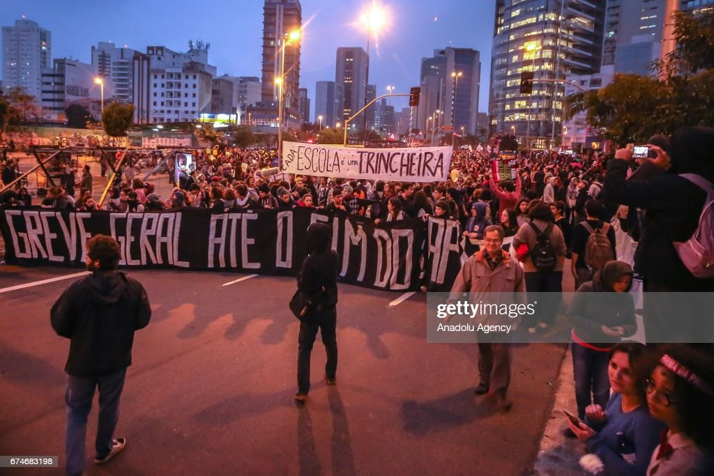 General Strike in Sao Paulo : News Photo