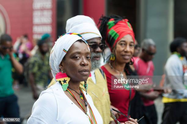 Hundreds of people of African descent took part in the Afrikan Emancipation Day Reparations March in London, 1st August 2017. Participants marched...