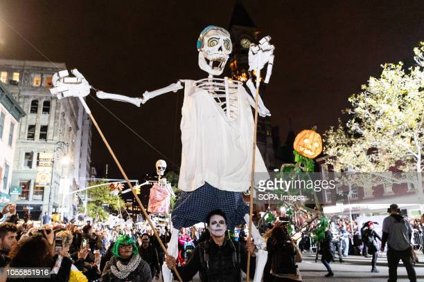 Hundreds of people participated in the 45th Annual Greenwich Village Halloween Parade in New York City