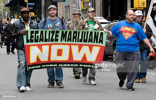 Hundreds of people participated on the annual NYC Cannabis Parade Rally in support of the legalization of the herb for recreational and medical use...