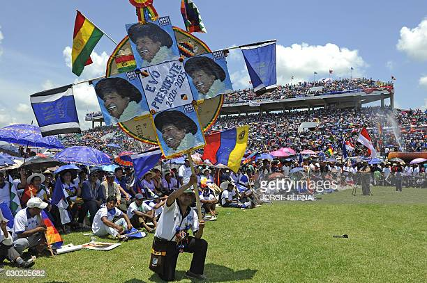 Hundreds of people take part in the Day of Democratic and Cultural Revolution in the Plurinational State of Bolivia celebrating President Evo...