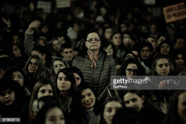 Hundreds of people took to the streets of Madrid Spain on 17 November 2017 to march against sexual assault and by a fair trial to the victim of the...