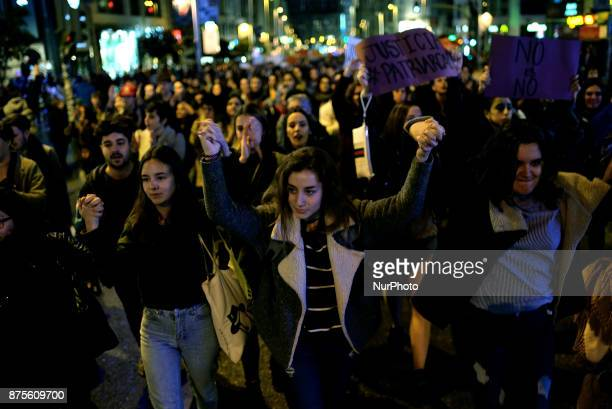Hundreds of people took to the streets of Madrid to march against sexual assault and by a fair trial to the victim of the San Fermin Festival in...