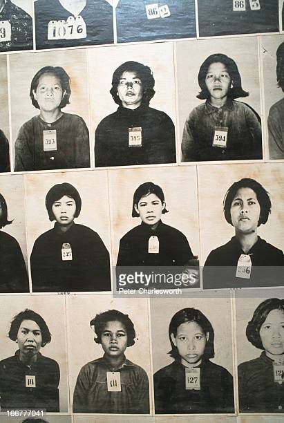 Hundreds of photographs line the walls of the Tuol Sleng Museum in Phnom Penh The museum is in a former school that the Khmer Rouge turned into...