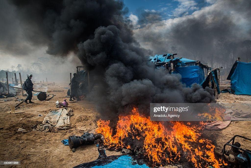 Peru Illegal Gold Mining Operation : News Photo