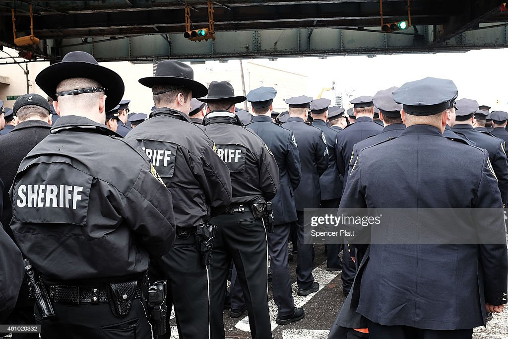 Funeral Held For Second Police Officer Killed In Brooklyn : News Photo