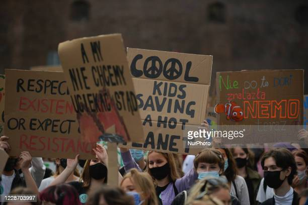 Hundreds of Polish students took part in the 'Krakow For Climate Justice' protest asking for climate justice and expressing opposition to the...