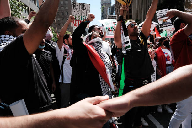 NY: Activists Protest Israel's Actions Against Palestinians