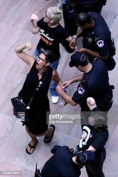 Hundreds of protesters are arrested by US Capitol Police for demonstrating against the confirmation of Supreme Court nominee Judge Brett Kavanaugh in...