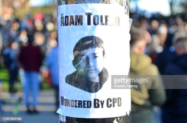 Hundreds of protesters take streets for 13 years old Adam Toledo who was shot and killed by police in Chicago, United States on April 16, 2021