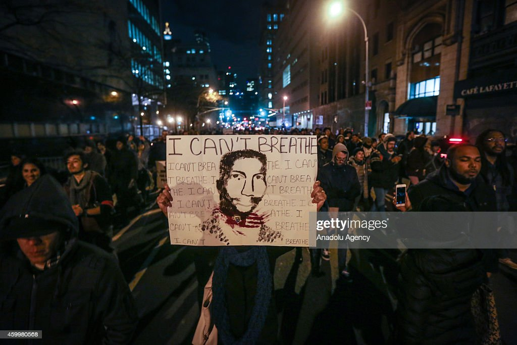 Protests Continue in New York After Grand Jury Decision on Eric Garner's case : News Photo