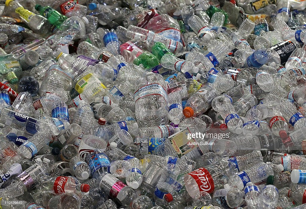 Hundreds of recycled plastic water bottles are piled up inside the Recology recycling facility on March 15, 2011 in San Francisco, California. The multi-million dollar bottled water industry continues to prosper despite outrage from environmentalists who point out that at least half of the empty bottles end up in landfills instead of being recycled. Environmental groups are encouraging people to use reusable containers and get their water from the tap which is safe to drink in over 90 percent of the United States.