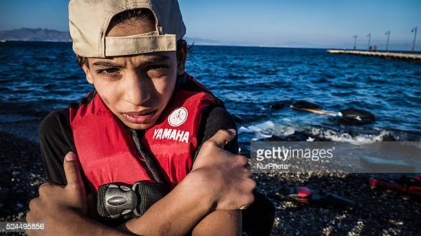 Hundreds of refugees continue to arrive on the Greek Island of Kos from Bodrum Turkey on October 21 2015 Both the local community and large and small...