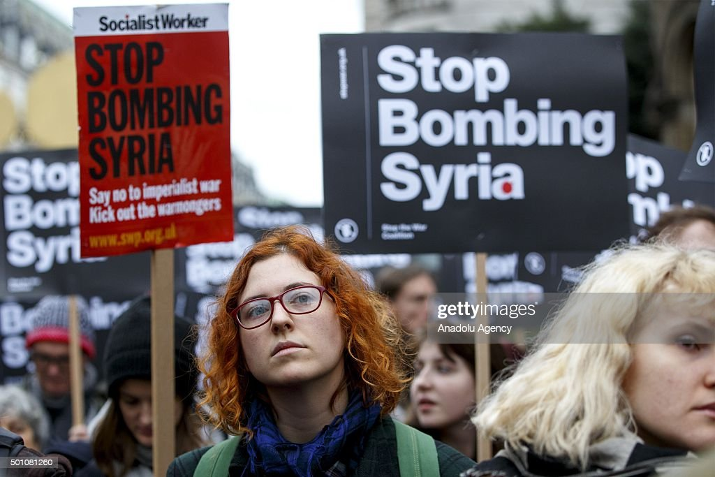 'Stop Bombing Syria' protest in London : News Photo