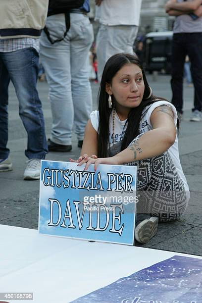 Hundreds of supporters gathered at Piazza Dante with banners and placards demanding justice for Ciro Esposito's death. Esposito died 50 days after he...