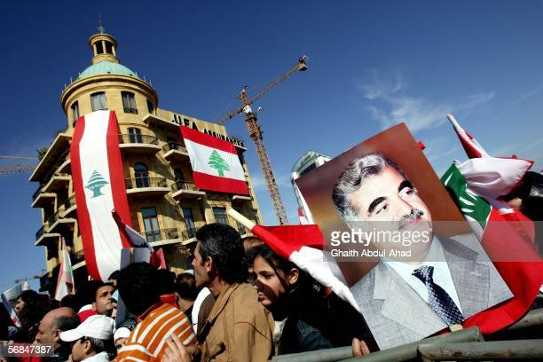 Hundreds of thousands of Lebanese turn out to mourn the one year anniversary of the assassination of former Lebanese Prime Minister Rafiq Hariri...