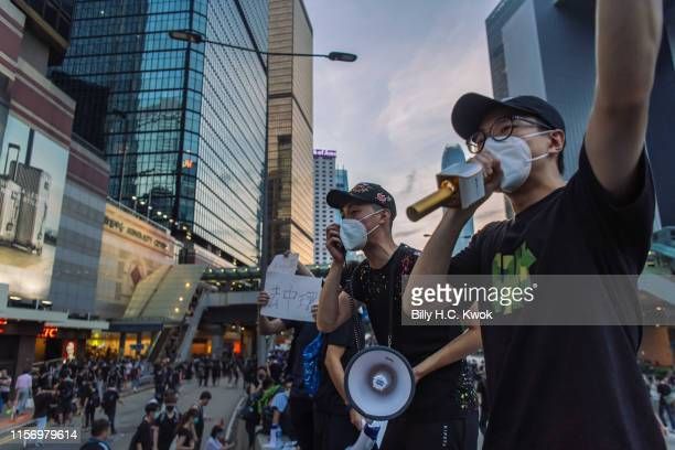 Hundreds of thousands of protesters participant in antiextradition bill march in Hong Kong on July 21 2019 in Hong Kong Hong Kong Prodemocracy...