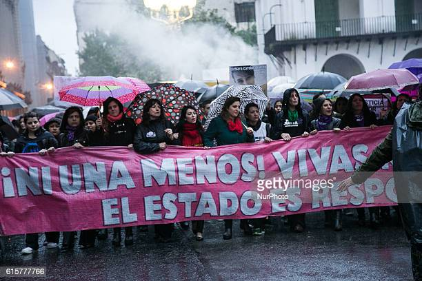 Hundreds of thousands of women set to protest in Buenos Aires Argentina on 19 October 2016 against violence after a terrible attack in which a...