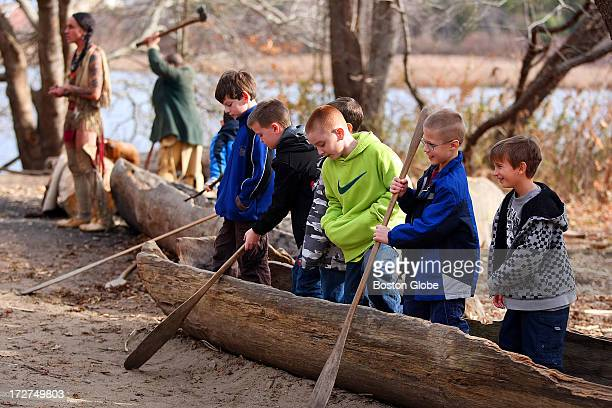 Hundreds of visitors came to Plimoth Plantation a day before Thanksgiving At the Wampanoag Homesite there students from the Black Rock School in...