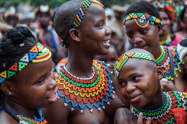 Hundreds Of Women Dressed In Zulu Attire And Traditonal