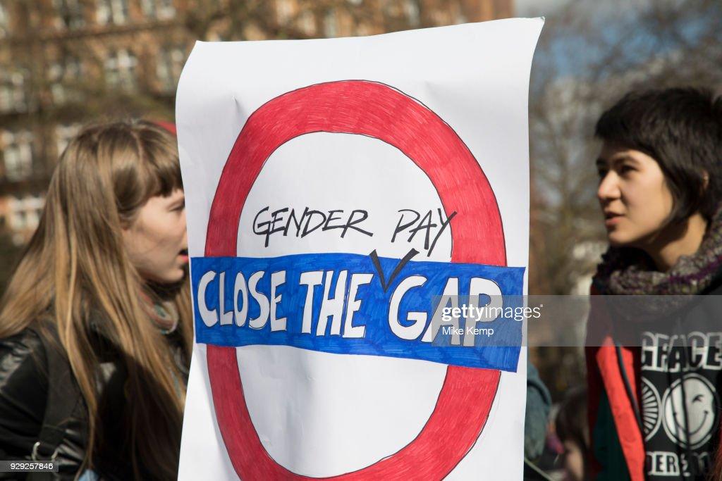Women's Strike Assembly On International Women's Day : News Photo