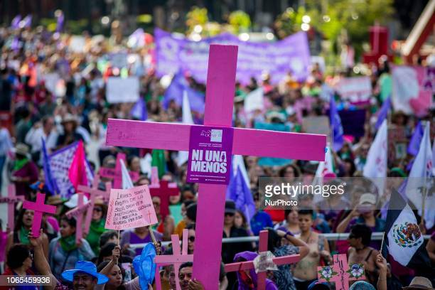 Hundreds of women took to the streets in Mexico City on 25 November 2018 as part of the international day against violence against women demanding...