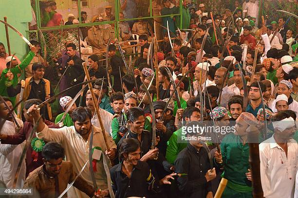 Hundreds swords fighters take part during 'haidos' Muharram procession in Ajmer Muharram is the mourning month for Muslims in remembrance of Hussein...